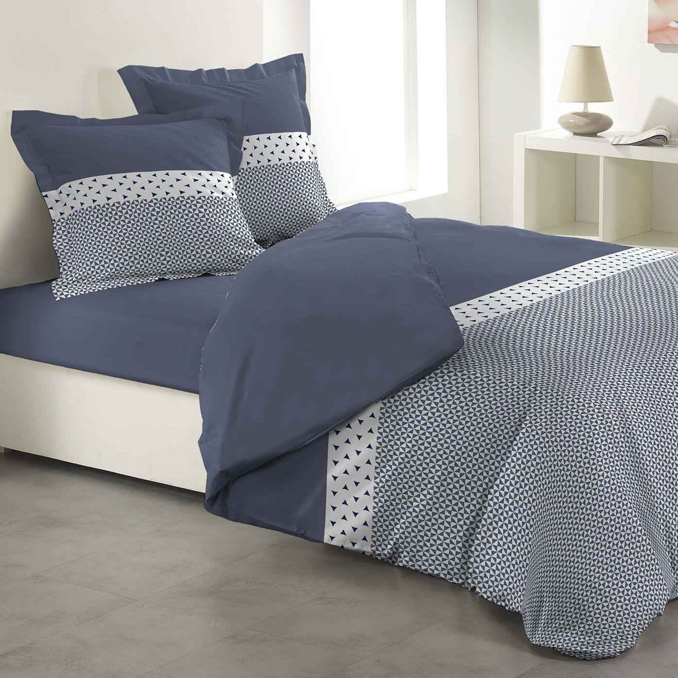 housse de couette et deux taies agatha 100 coton 240 cm. Black Bedroom Furniture Sets. Home Design Ideas