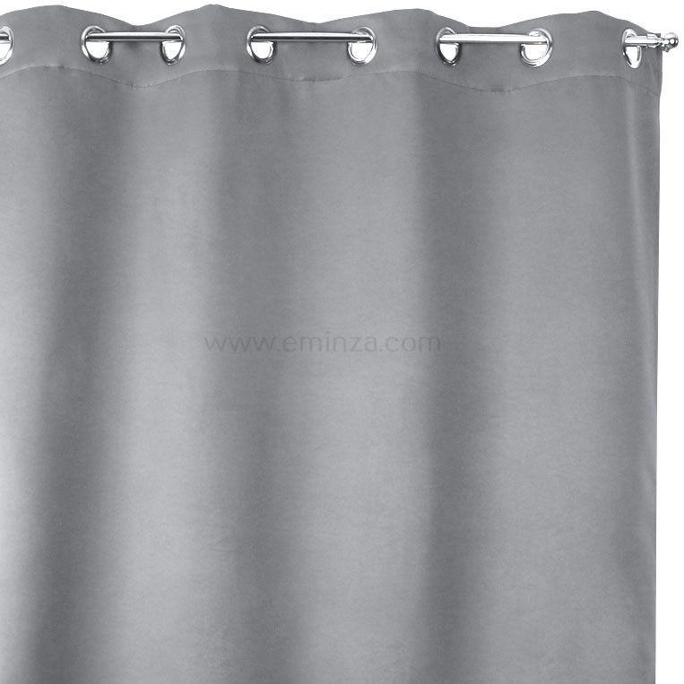 rideau obscurcissant isolant calore 140 x h180 cm gris souris rideau isolant eminza. Black Bedroom Furniture Sets. Home Design Ideas