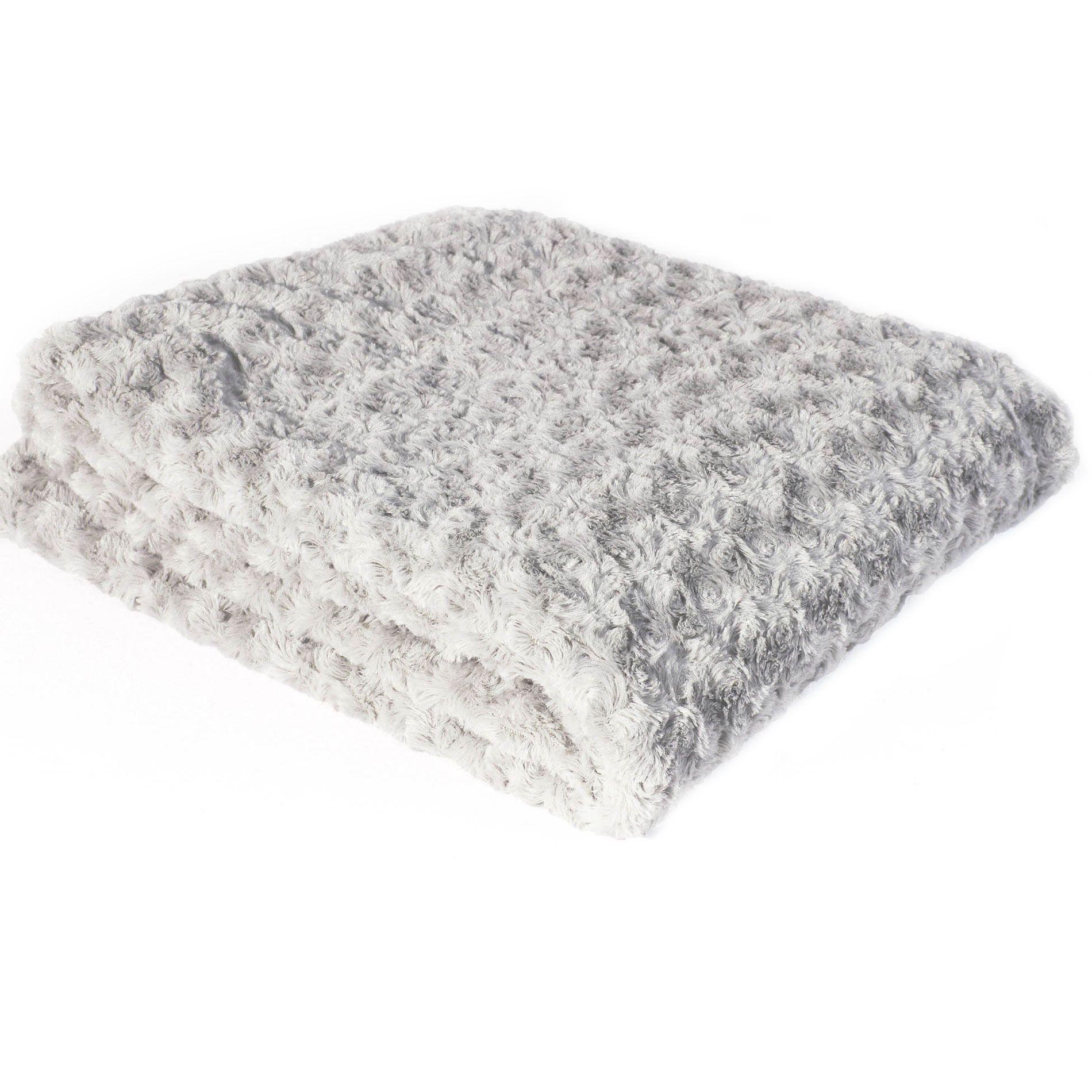 plaid doux 220 cm himalaya gris plaid cocooning eminza. Black Bedroom Furniture Sets. Home Design Ideas