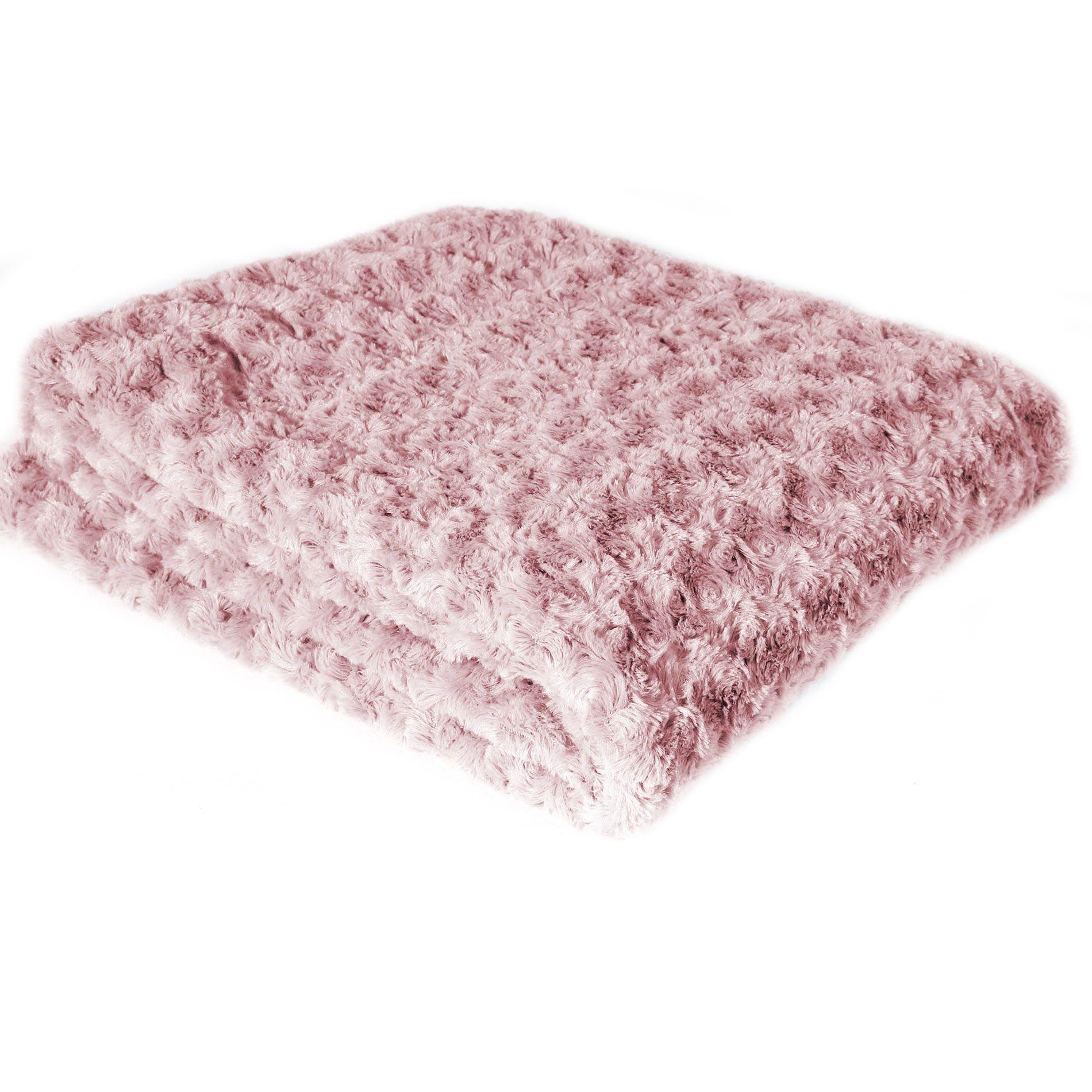 plaid doux 220 cm himalaya rose plaid cocooning eminza. Black Bedroom Furniture Sets. Home Design Ideas