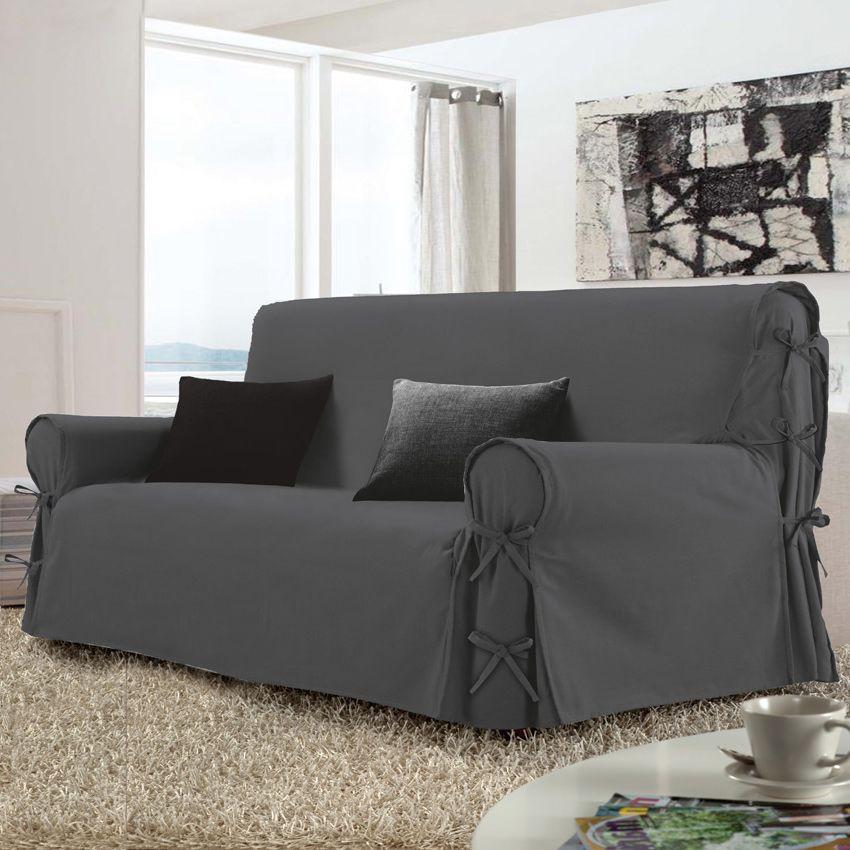 housse de canap 3 places stella gris anthracite housse de canap eminza. Black Bedroom Furniture Sets. Home Design Ideas