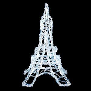 Torre Eiffel luminosa Blanco frío 20 LED