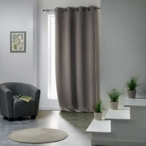 Rideau occultant (140 x H260 cm) Cocoon Taupe