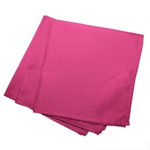 Lot de 3 serviettes Essentiel Fuchsia