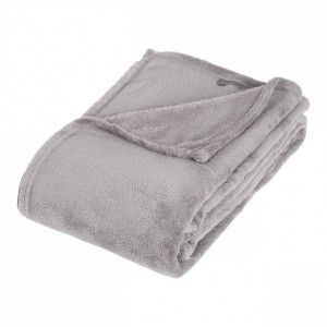 Plaid polaire (150 cm) Tendresse Gris