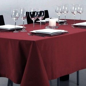 Nappe rectangulaire anti tache (L240 cm) Lina Rouge