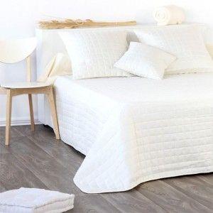 couvre lit 240 x 220 cm matelass venus ecru couvre lit boutis eminza. Black Bedroom Furniture Sets. Home Design Ideas