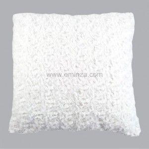 coussin imitation fourrure rosea blanc. Black Bedroom Furniture Sets. Home Design Ideas