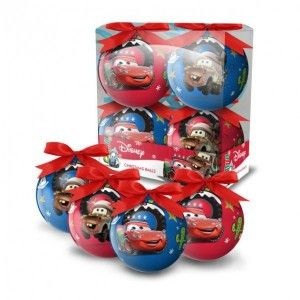 Set van 4 Disney kerstballen Cars