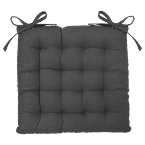 Coussin de chaise Lina Gris anthracite