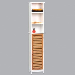Meuble colonne salle de bain bakou bois bambou colonne for Colonne de salle de bain 20 cm