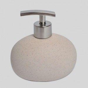 salle de bain distributeur savon granite sable