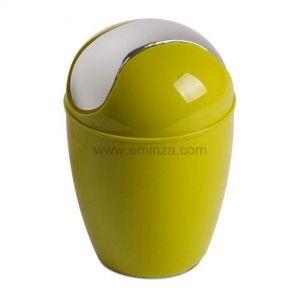 Mini poubelle happy vert poubelle eminza - Mini poubelle salle de bain ...