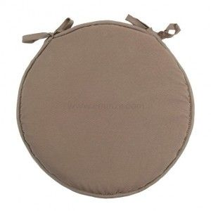 Galette de chaise ronde Nelson Taupe