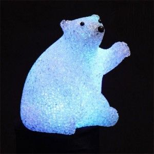 Oso polar con LED Xavier Multicolor