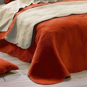 couvre lit matelass boutis brique couvre lit boutis eminza. Black Bedroom Furniture Sets. Home Design Ideas