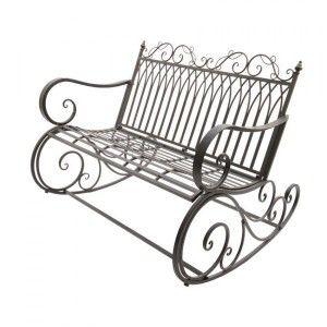 Banc de jardin petit mobilier de jardin eminza - Banc de jardin fer forge ...