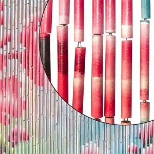 rideau de porte 90 x h200 cm bambou fleurs rideau de porte eminza. Black Bedroom Furniture Sets. Home Design Ideas