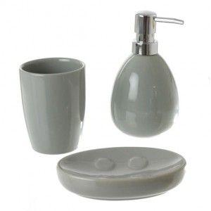 Gobelet ecobio bois bambou accessoire salle de bain eminza - Accessoire salle de bain gris ...