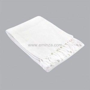 Plaid en coton (150 cm) Lana Blanc