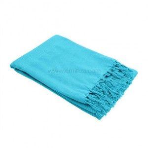 Plaids et jet s plaid polaire plaid imitation fourrure - Plaid bleu turquoise ...