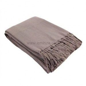 Plaid en coton (220 cm) Lana Taupe