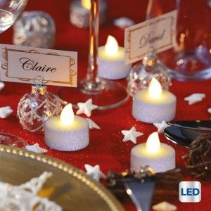 Set di 6 lumini decorativi LED Bianca neve Bianco