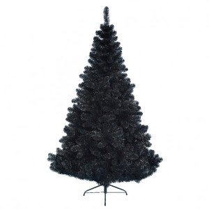 Abeto artificial de Navidad Black Royal Altura 150 cm Negro