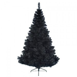 Albero di Natale artificiale Black Royal Alt. 210 cm Nero