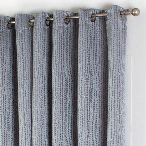 Rideau 140 x h260 cm esteban gris rideaux eminza - Rideau gris perle ...