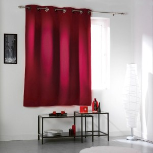 Rideau occultant (140  x H180 cm) Cocoon Rouge