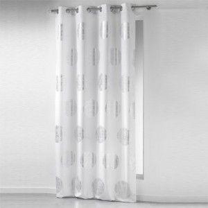 Rideau (140 x H260 cm) Platine Blanc