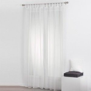 Lot de 2 voilages (140 x 240 cm) Uni Blanc
