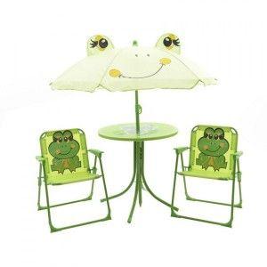 salon de jardin enfant animaux vert mobilier pour. Black Bedroom Furniture Sets. Home Design Ideas