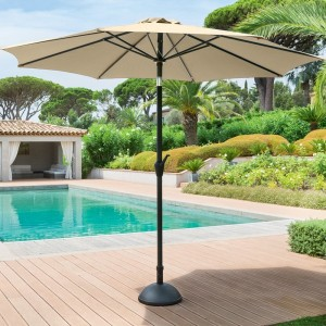 Parasol inclinable rond Fidji (D 3 m) - Sable