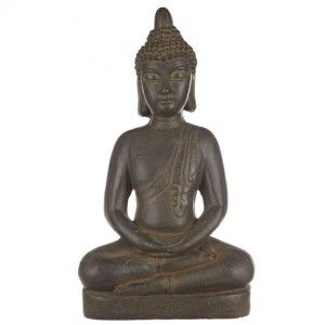 Bouddha en méditation Anthracite