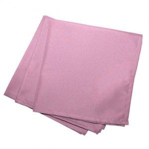 Lot de 3 serviettes Essentiel rose dragée
