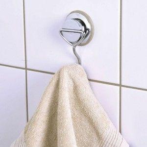 Crochet ventouse luxe chrome pat res et crochets eminza - Crochet ventouse salle de bain ...