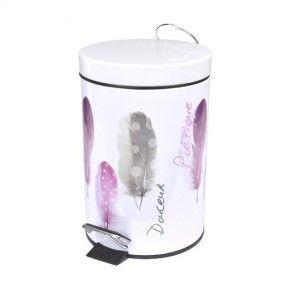 Mini poubelle happy rose accessoire salle de bain eminza - Poubelle salle de bain rose ...