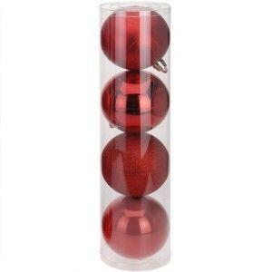 Vous aimerez aussi : Lot de 4 boules de No�l (D150 mm) Britany Rouge Spirale