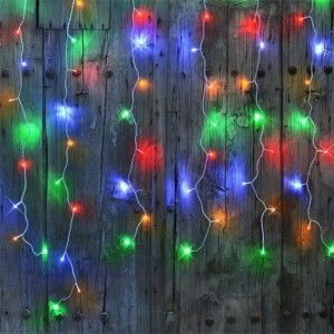 Cortina de luces interconectable alto 2 m Multicolor 96 LED