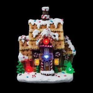 Petite maison illumin�e Chocolat de No�l