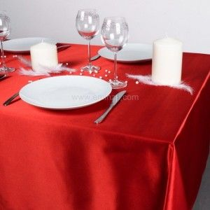 Mantel Satin Rojo