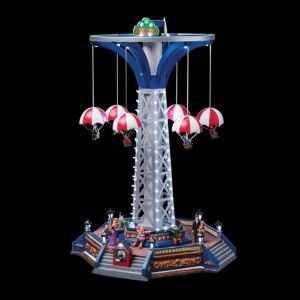 Carrousel de No�l lumineux et musical Parachute nordique