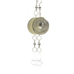 Lot de 2 suspensions joyaux divins ronds Argent