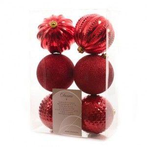 Vous aimerez aussi : Lot de 6 boules de No�l (D100 mm) Chic Rouge