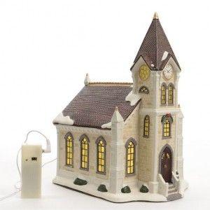 Eglise de No�l illumin�e Santa Claus
