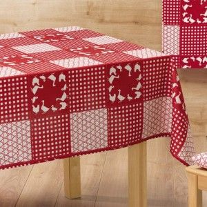 nappe rectangulaire l240 cm campagne rouge nappe de table eminza. Black Bedroom Furniture Sets. Home Design Ideas