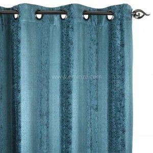 rideau oeillets bord de mer bleu rideau tamisant eminza. Black Bedroom Furniture Sets. Home Design Ideas