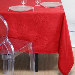 Nappe rectangulaire (L300 cm) Totema Rouge